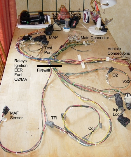 create a custom efi installation rh midnightdsigns com 89 mustang wiring harness diagram Porsche 911 Wiring Harness